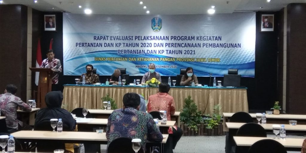 Evaluasi  Pelaksanaan  Program  Kegiatan  Pertanian  dan  KP Tahun  2020  dan  Perencanaan  Pembangunan  Pertanian  dan  KP  Tahun 2021
